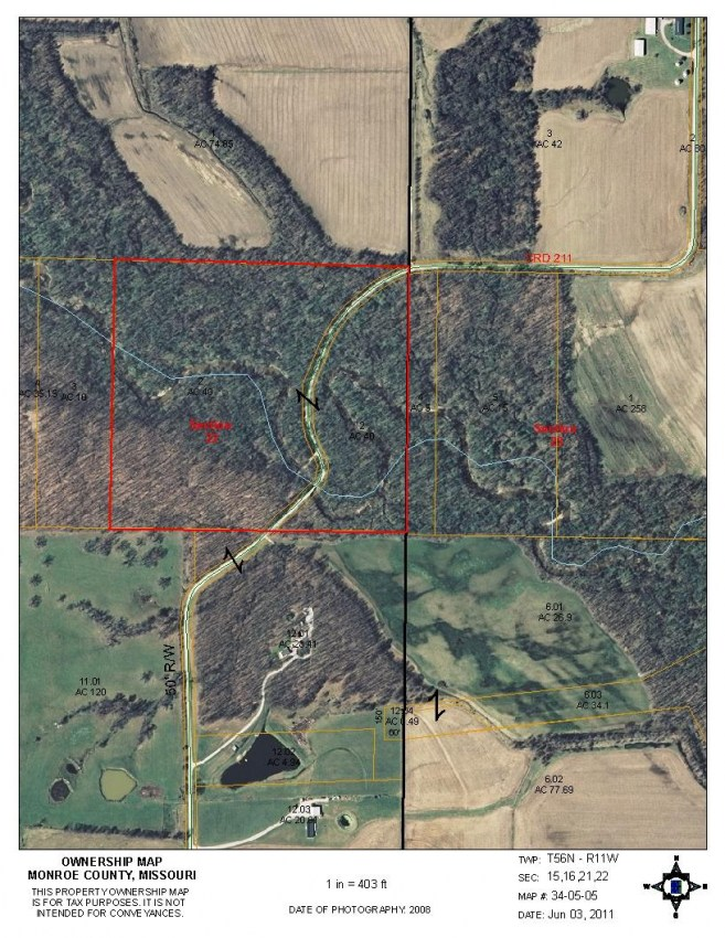 40 Acres Hunting Land For Sale in Monroe County, Missouri #100318