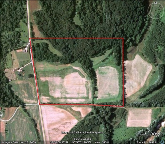 50 Acres Hunting Land For Sale In Brown County, Illinois #102805